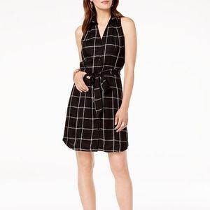 INC Sleeveless Black & White Button Up Dress 6 &12